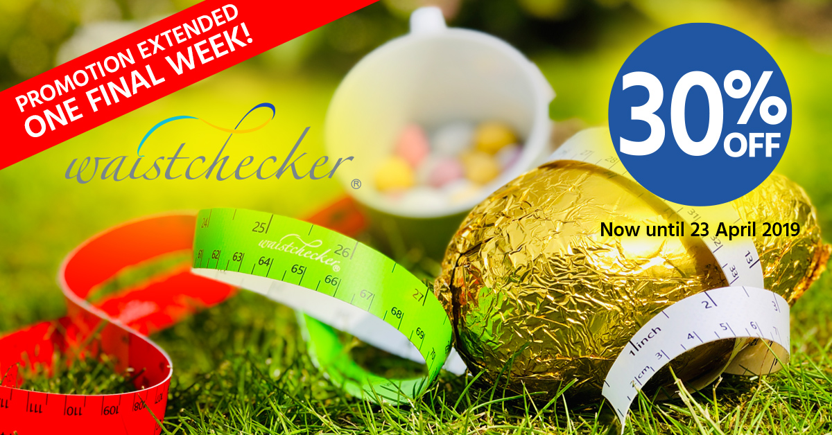 Extended promotion: An early Easter treat from us - 30% off Waistchecker waist tape measure until 23rd April 2019